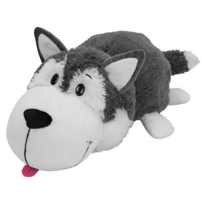 Vivid Peluche 2 en 1 réversible : husky et ours polaire