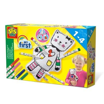Ses Creative ses my first - chat en tissu à colorier