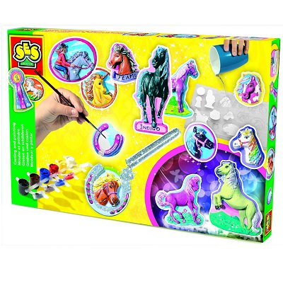 kit de moulage en pl tre chevaux ses creative magasin de jouets pour enfants. Black Bedroom Furniture Sets. Home Design Ideas