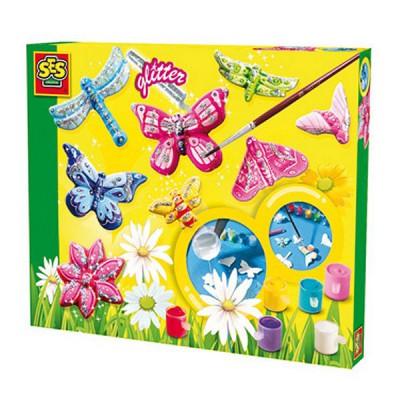 kit de moulage en pl tre papillons scintillants ses creative magasin de jouets pour enfants. Black Bedroom Furniture Sets. Home Design Ideas