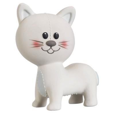 Vulli Hochet animal en caoutchouc : Lazare le chat