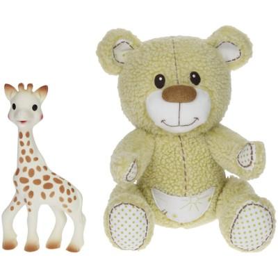 Vulli Coffret cadeau : Sophie la girafe et Gabin l'ours peluche