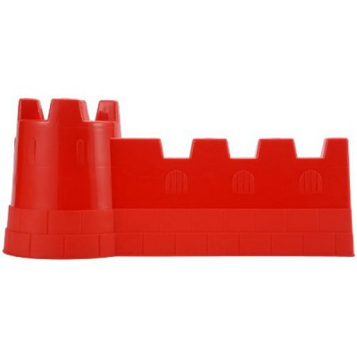 Ecoiffier Moule à sable Château fort 40 cm : Rouge