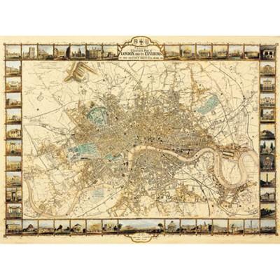 Ricordi Arte puzzle 1000 pièces : plan de londres
