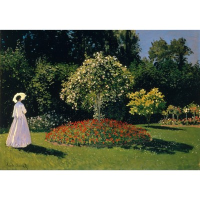 Ricordi Arte puzzle 1500 pièces : dame en blanc au jardin, claude monet