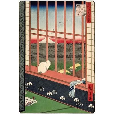 Puzzle Michèle Wilson Puzzle d'art en bois 350 pièces Michèle Wilson - Hiroshige : Chat devant les rizières