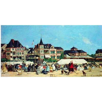 Puzzle Michèle Wilson Puzzle d'art en bois 750 pièces Michèle Wilson Eugèrne Boudin : Le casino de Trouville