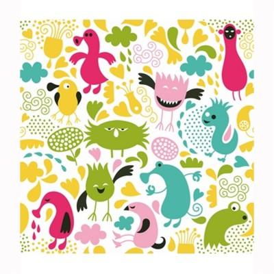 Puzzle Michèle Wilson Puzzle d'art en bois 30 pièces Michèle Wilson Cuzzles Printemps : Monstres