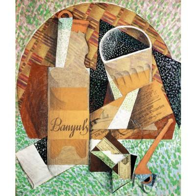 Puzzle Michèle Wilson Puzzle d'art en bois 150 pièces Michèle Wilson : Juan Gris : La bouteille de Banyuls