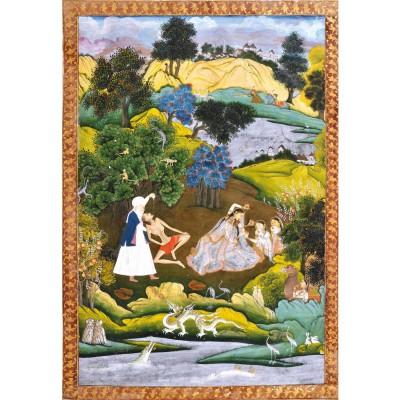 Puzzle Michèle Wilson Puzzle d'art en bois 500 pièces Michèle Wilson : Leila et Majnoun, école Moghole