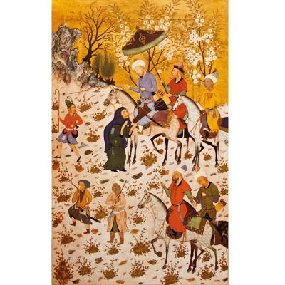 Puzzle Michèle Wilson Puzzle d'art en bois 900 pièces Michèle Wilson : Art Oriental : Sultan sandjar