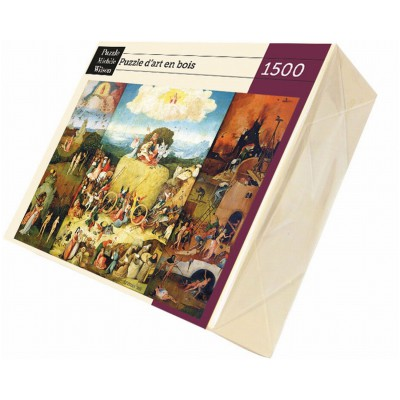 Puzzle Michèle Wilson Puzzle d'art en bois 1500 pièces Michèle Wilson - Bosch : La charrette de foin