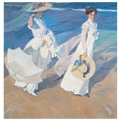 Puzzle Michèle Wilson Puzzle d'art en bois 80 pièces : Sorolla : Promenade au bord de la mer