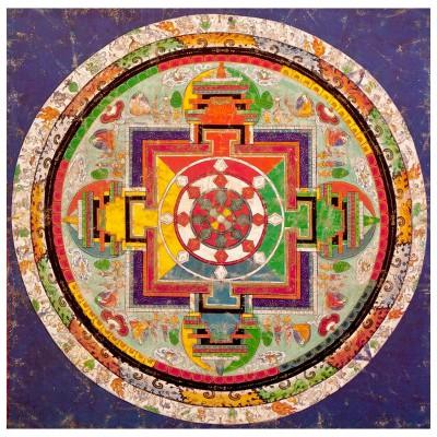 Puzzle Michèle Wilson Puzzle d'art en bois 250 pièces : Art Tibétain : Mandala de Chakra