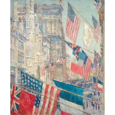 Puzzle Michèle Wilson Puzzle d'art en bois 350 pièces : Hassam : Alliés Day May 1917