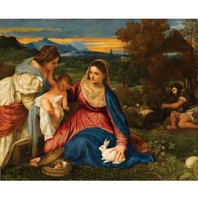 Puzzle Michèle Wilson Puzzle d'art en bois 150 pièces Michèle Wilson - Titien : La vierge au lapin