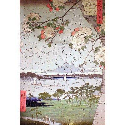 Puzzle Michèle Wilson Puzzle d'art en bois 350 pièces Michèle Wilson - Hiroshige : Pommiers en fleurs