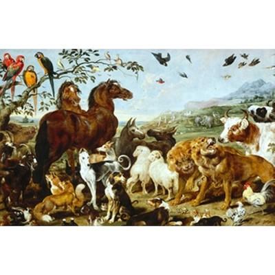 Puzzle Michèle Wilson Puzzle en bois - Art Maxi 12 pièces - Vos : Entrée des animaux de Noé