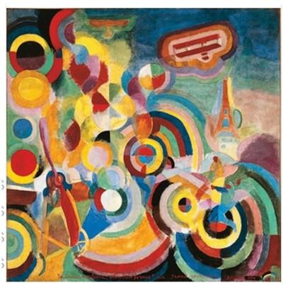 Puzzle Michèle Wilson Puzzle d'art en bois 80 pièces Michèle Wilson - Delaunay : Hommage à Blériot