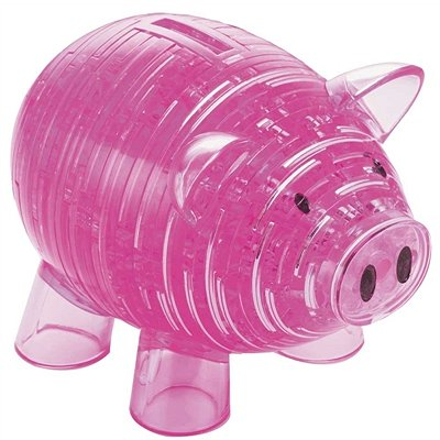 Hcm Kinzel puzzle 3d - 94 pièces - cochon rose