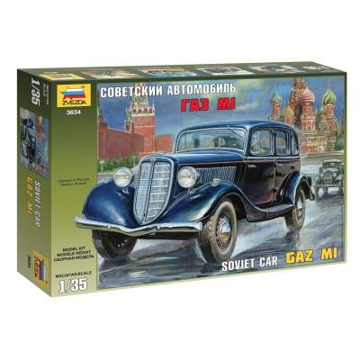 Zvezda Maquette voiture soviétique gaz m1