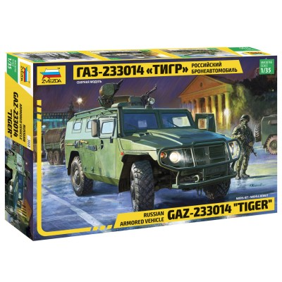 Zvezda Maquette véhicule militaire : gaz-233014 tiger