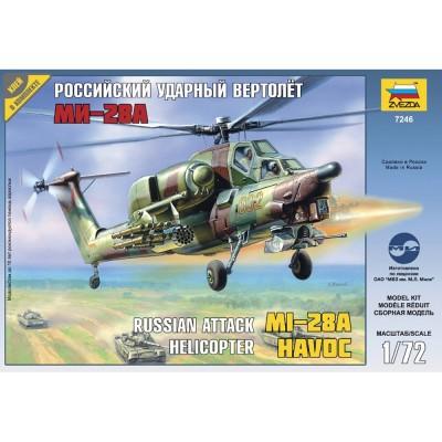 Zvezda Maquette helicoptère : hélicoptère d'attaque russe - mi 28a