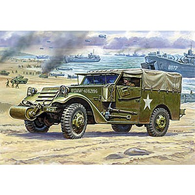 Zvezda Maquette m3 armored scout car avec bâche