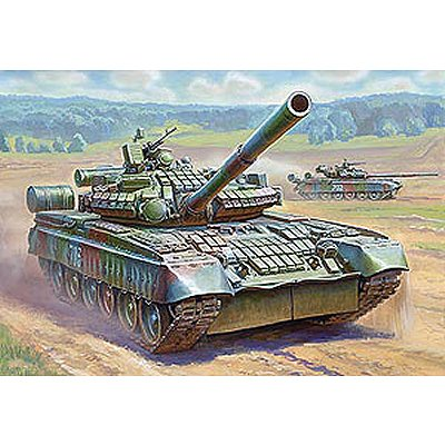 Zvezda Maquette charrusse t-80bv