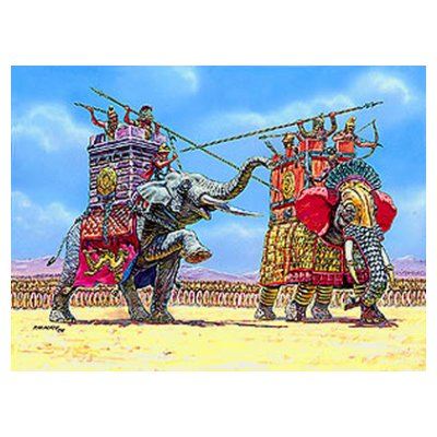 Zvezda Figurines Elephants de guerre: IIIème-Ier siècle av. JC