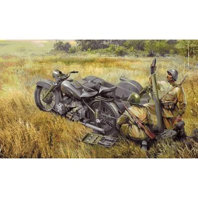 Zvezda Maquette moto m-72 avec mortier