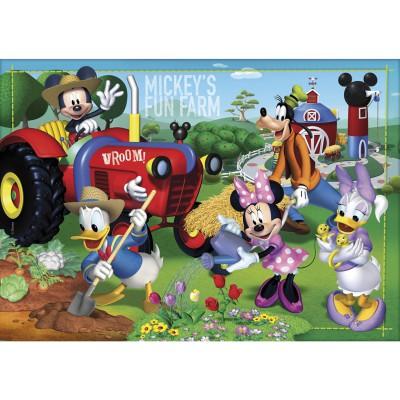 Clementoni Puzzle 24 pièces maxi : mickey et ses amis à la ferme