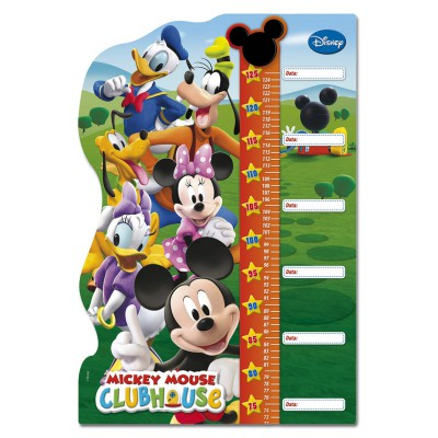 Clementoni Puzzle 30 pièces maxi : puzzle double fun toise mickey