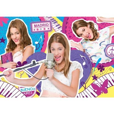 Clementoni Puzzle 104 pièces : violetta