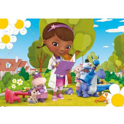 Clementoni Puzzle 24 pièces maxi : Docteur la peluche : Dans le jardin