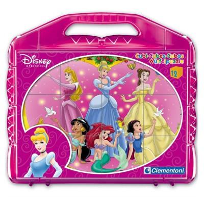 Clementoni Malette 12 cubes disney : princesse disney
