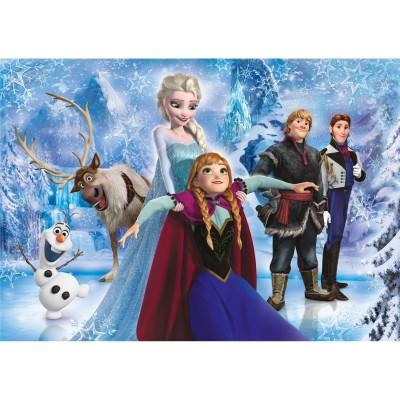 Clementoni Puzzle 104 pièces : La Reine des Neiges Frozen : Brilliant Puzzle