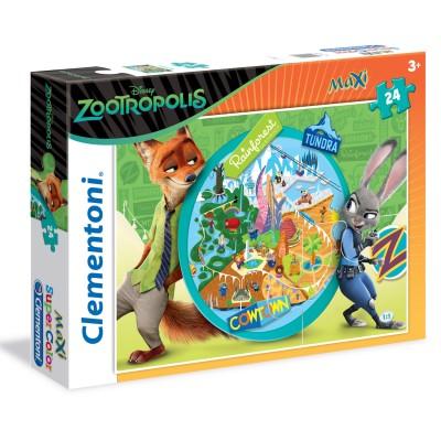 Clementoni Puzzle 24 pièces maxi : zootopie