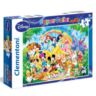 Clementoni Puzzle 24 pièces maxi : disney family