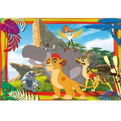 Clementoni Puzzle 104 pièces : La Garde du Roi Lion