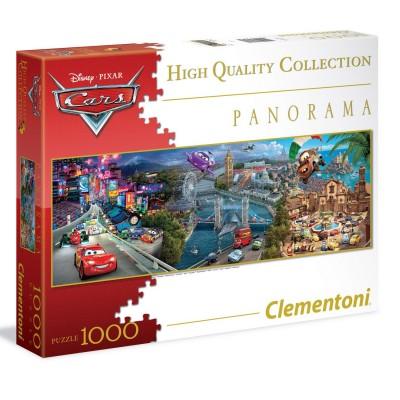 Clementoni Puzzle 1000 pièces panoramique : cars