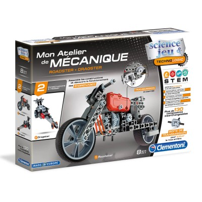 Clementoni Atelier mécanique : roadster et dragster