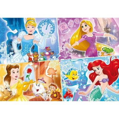 Clementoni Puzzle 104 pièces maxi : princesses disney