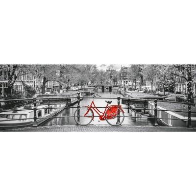 Clementoni Puzzle 1000 pièces panoramique : bicyclette à amsterdam