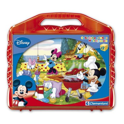 Clementoni Puzzle 12 cubes : mickey