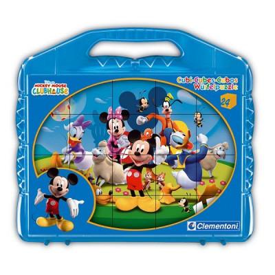 Clementoni Puzzle 24 cubes : Mickey et ses amis