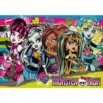 Clementoni Puzzle 104 pièces - monster high : entre filles