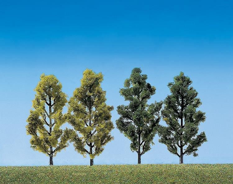 Faller Modélisme : végétation : 2 bouleaux et 2 peupliers