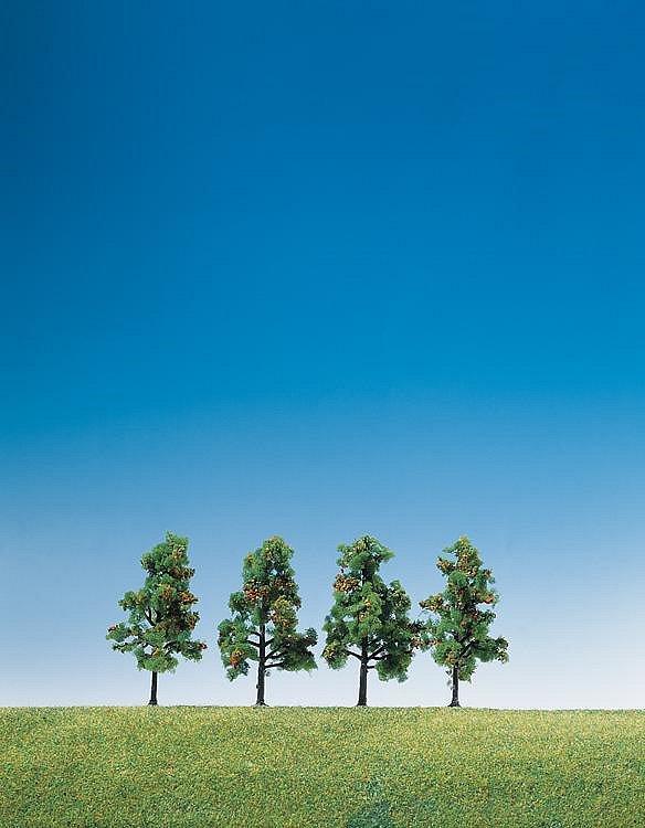 Faller Modélisme : végétation : 4 arbres à feuilles et fruitiers