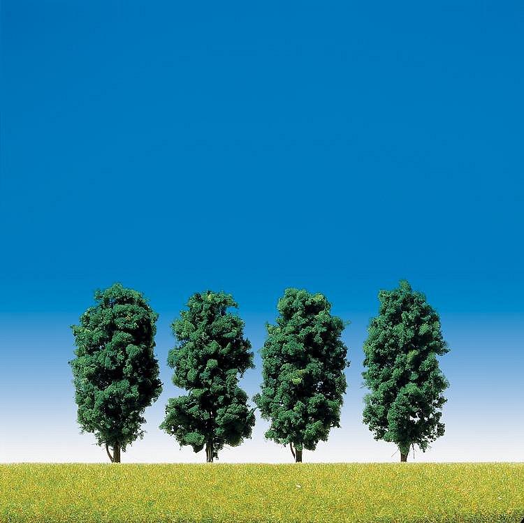 Faller Modélisme : végétation : 4 arbres avec feuilles